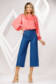 Pantaloni Celine albastri tip culotte