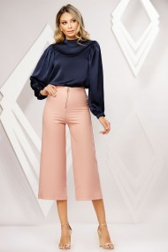 Pantaloni Celine roz pastel tip culotte