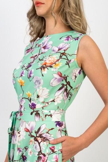 Rochie Pauletta Angela lunga cu buzunare si imprimeu floral