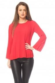 Bluza Tinka plisata rosie