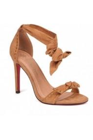 Sandale cu toc Carolina Boix Bej 51270 Bej