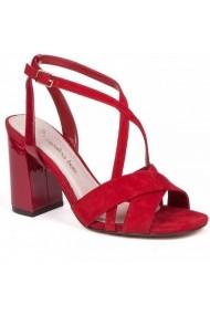 Sandale cu toc Carolina Boix Rosu 51750 Rosu