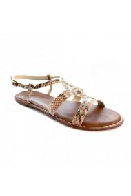 Sandale plate Carolina Boix Bej 41856 Bej