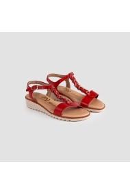 Sandale cu toc Carolina Boix Rosu 069/195 Rosu
