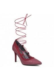 Pantofi cu toc Carolina Boix Bordo 50412 Bordo