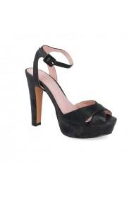 Sandale cu toc Carolina Boix Negru 61271 Negru
