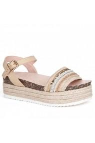 Sandale cu toc Carolina Boix Bej 51544 Bej
