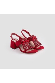 Sandale cu toc Carolina Boix Rosu 61192 Rosu