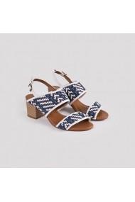 Sandale cu toc Carolina Boix Alb 3100012 Alb