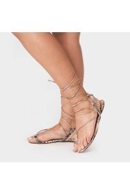 Sandale plate Carolina Boix Auriu 4440010 Auriu