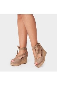 Sandale cu toc Carolina Boix Bej 51461 Bej