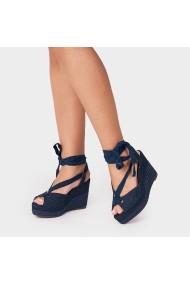 Sandale cu toc Carolina Boix Bleumarin 51461 Bleumarin