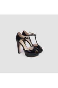Sandale cu toc Carolina Boix Negru 578099-2 Negru