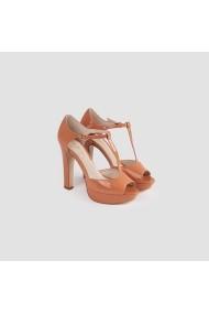 Sandale cu toc Carolina Boix Nude 578099-3 Nude