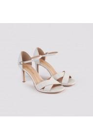 Sandale cu toc Carolina Boix Alb 4380001 Alb