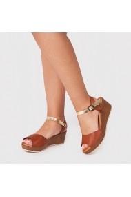 Sandale cu toc Carolina Boix Bej 13823 Bej