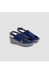 Sandale plate Carolina Boix Bleumarin 51694 Bleumarin