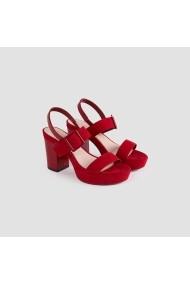 Sandale cu toc Carolina Boix Rosu 51744 Rosu