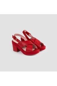 Sandale cu toc Carolina Boix Rosu 51322 Rosu