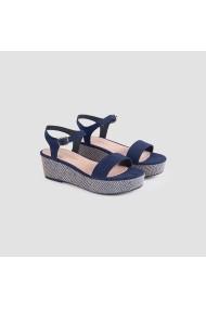 Sandale plate Carolina Boix Bleumarin 51690 Bleumarin
