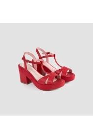 Sandale cu toc Carolina Boix Rosu 51324 Rosu