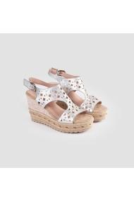 Sandale cu toc Carolina Boix Argintiu 51540 Argintiu
