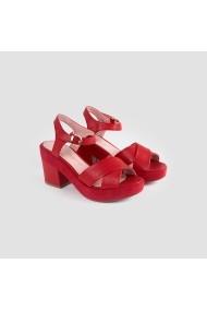 Sandale cu toc Carolina Boix Rosu 51320 Rosu