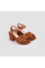Sandale cu toc Carolina Boix Bej 51320 Bej