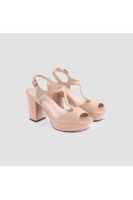 Sandale cu toc Carolina Boix Nude 51743 Nude