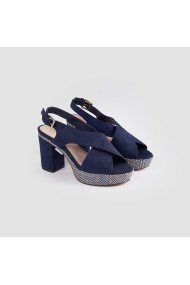 Sandale cu toc Carolina Boix Bleumarin 51747 Bleumarin