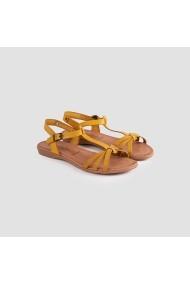 Sandale plate Carolina Boix Mustar 2387-01 Mustar