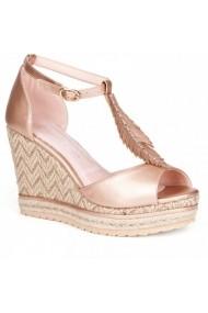 Sandale cu toc cu platformaCarolina Boix Rosu 51484 Rosu