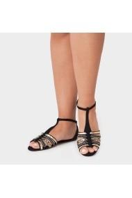 Sandale plate Carolina Boix Negru 1804.119 Negru