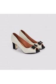 Pantofi cu toc Carolina Boix Crem 1818.201 Crem