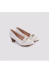 Pantofi cu toc Carolina Boix Alb 7015.103 Alb