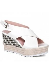 Sandale cu toc Carolina Boix Alb 51451 Alb