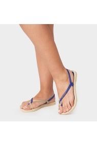 Sandale plate Carolina Boix Albastru 260100 Albastru