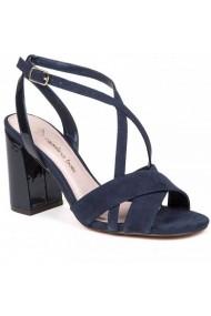 Sandale cu toc Carolina Boix Bleumarin 51750 Bleumarin