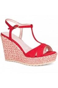 Sandale cu toc Carolina Boix Rosu 51483 Rosu