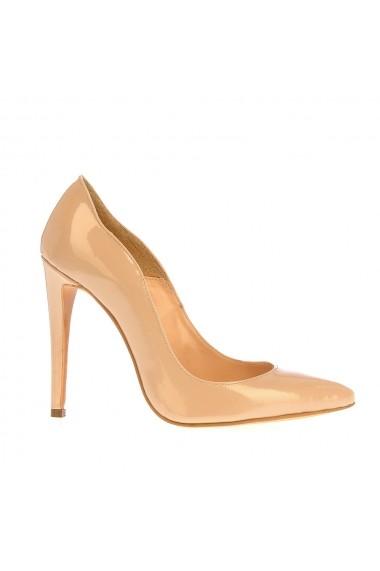 Pantofi cu toc Veronesse 413 Nude inchis