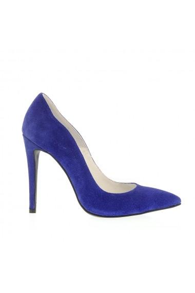 Pantofi cu toc Veronesse 413 Albastru