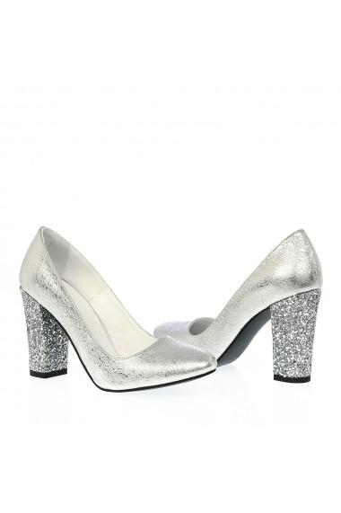 Pantofi cu toc Veronesse 336/1/641/322 Argintiu