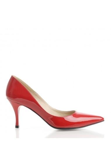 Pantofi cu toc Veronesse 344/843 Rosu