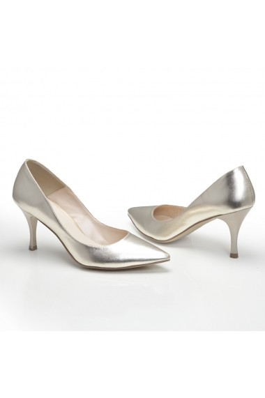 Pantofi cu toc Veronesse 344/843 Auriu