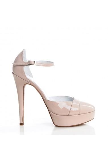 Pantofi cu toc Veronesse 73/1/641 Nude