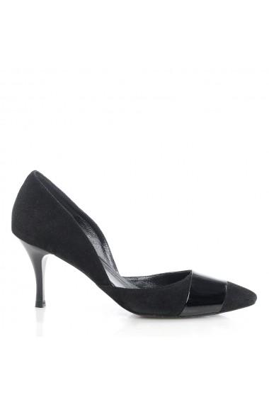 Pantofi cu toc Veronesse 46/124 Negru