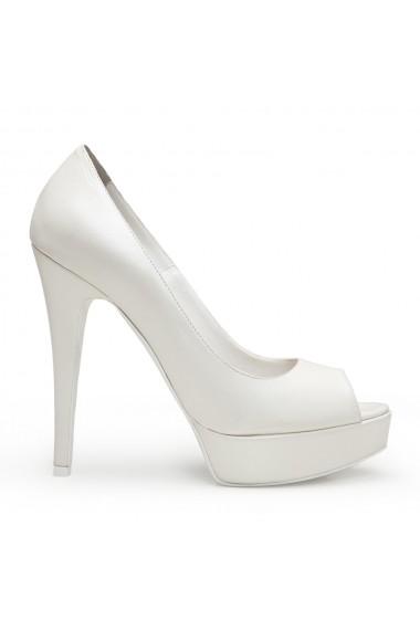 Pantofi cu toc Veronesse 336/641 Ivory