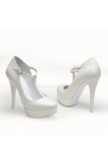Pantofi cu toc Veronesse 402/641 Ivory