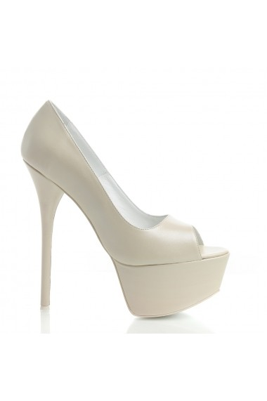 Pantofi cu toc Veronesse 336/3874 Ivory