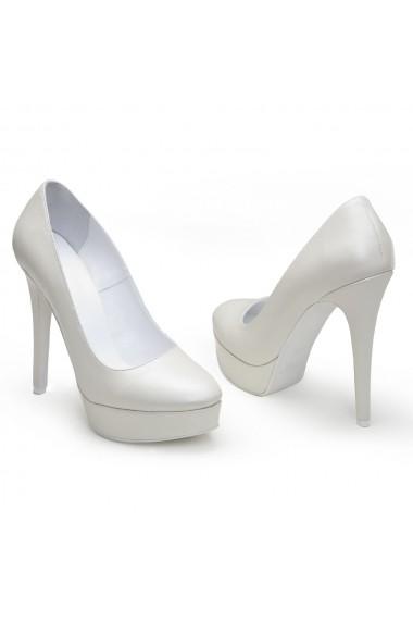 Pantofi cu toc Veronesse 336/641/1 Ivory